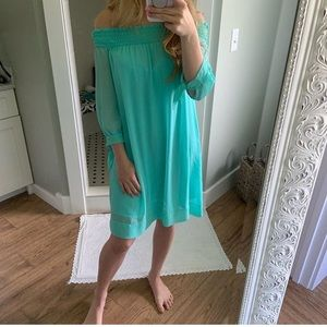 New York and company off the shoulder dress